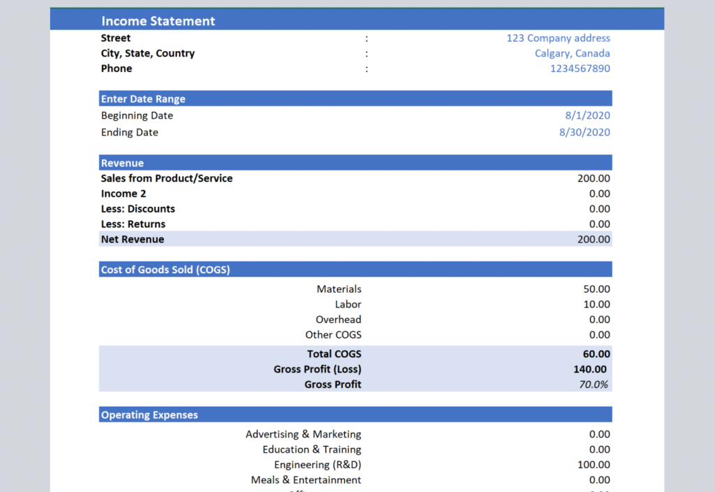 Free Excel Accounting Templates And Bookkeeping Spreadsheet Vencru