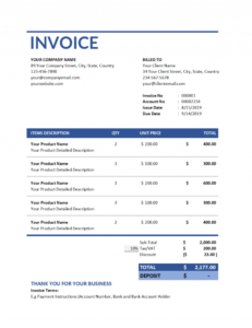 bold invoice style for professional business